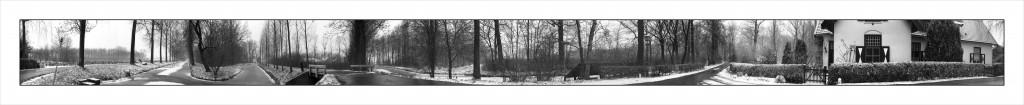 Winterpanoramafoto Linschoterbos